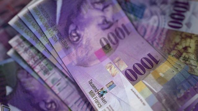 Banknoty frank szwajcarski